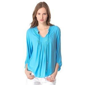 DVF Cornflower Blue Acquilina Blouse S
